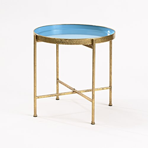 InnerSpace Luxury Products Gild Pop Up Tray Table, Large, Blue by InnerSpace Luxury Products