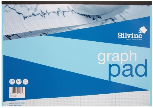 Silvine Graph Pad A3 1mm 5mm 10mm by Silvine