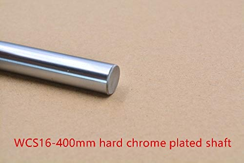 GIMAX 3D Printer Rod Shaft WCS 16mm Linear Shaft Length 400mm Chrome Plated Linear Guide Rail Round Rod Shaft 1pcs - Watch Chrome Frontier