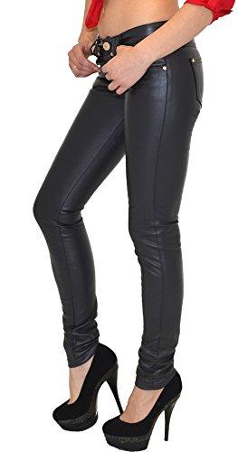 cuir simili pour en pantalon cuir tex pantalon H12 Pantalon femmes femmes slim H12 femme Jean by gris z0g7gf