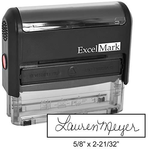 Custom Signature Stamp - Self Inking - Black Ink - Medium