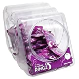 Gift Set Of Vibrating Pleasure Ringz 36Pc Bowl And one package of Trojan Fire and Ice 3 condoms total in package