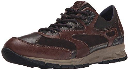 Geox U DELRAY A - zapatilla deportiva de piel hombre marrón - Braun (C6R6TDK BROWN/DK COFFEE)