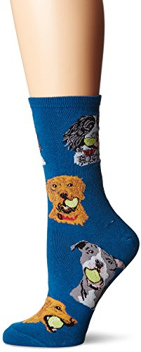 Blue Dog Antiques (Socksmith Women's Ball Dog Antique Blue Sock)