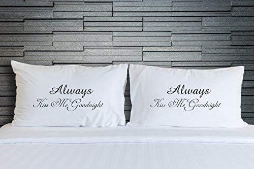 Wall Smart Designs Paare Kissen Always Kiss Me Goodnight