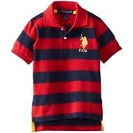 [Sponsored]U.S. Polo Assn. Little Boys' Yarn Dyed Striped Polo Shirt