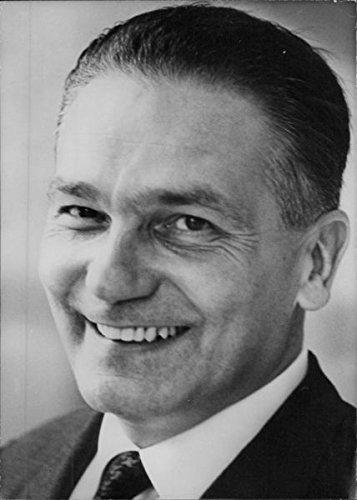 Vintage photo of Italian politician, Mario Ferrari Aggradi, 1970. 1970 Ferrari