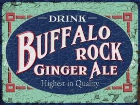 Vintage Ale - KPSheng Buffalo Rock Ginger Ale 12 x 16 Vintage Metal Signs