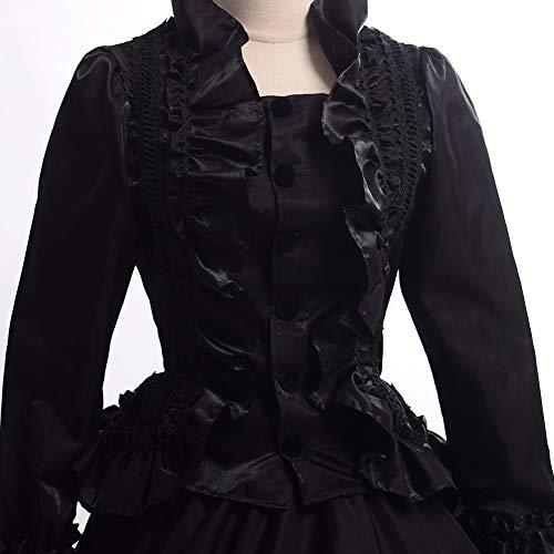 Avec Graceart Carnaval Jupon Medieval Noir Femmes Victorienne Robe Vêtements xrqwrtO