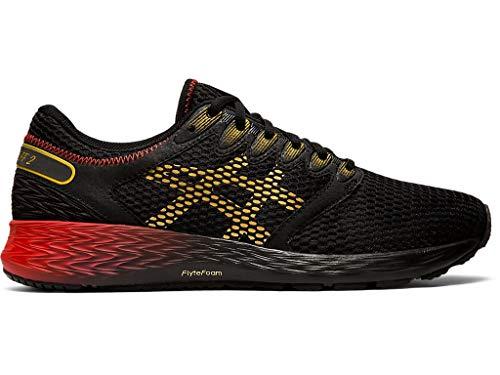 ASICS Men's Roadhawk FF 2 Running Shoes, 13M, Black/Rich Gold