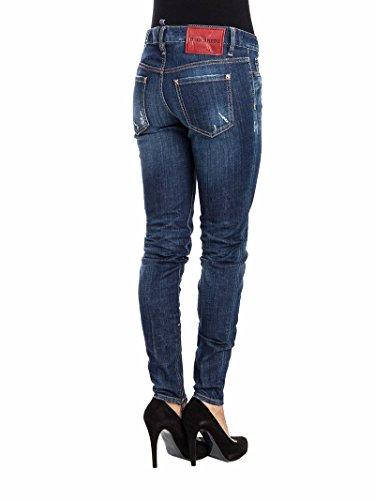 Jeans Donna Cotone Dsquared2 S72la0874s30342470 Blu pdUOxwZn