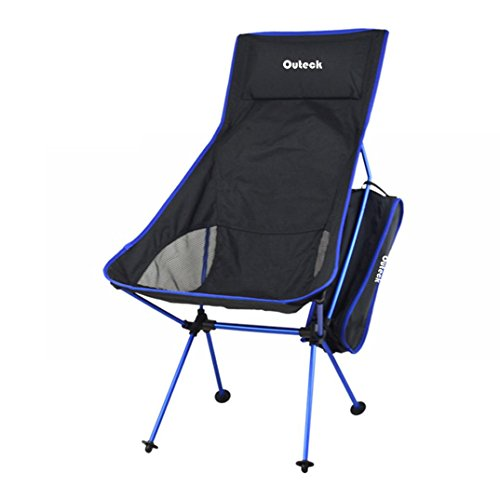 Sinma 2.6lb Camping Folding Chair, Portable Chair Easy to install and dismount for Outdoor Camping / Picnic / Hiking / Bicycling / Fishing / BBQ / Beach / Patio with Carry Bag(Dark Blue)