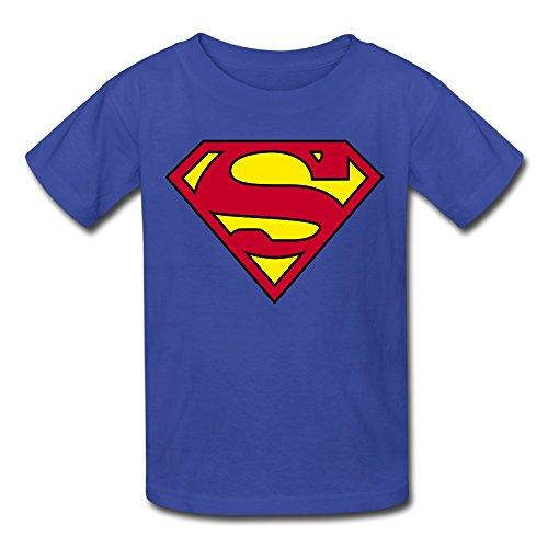 (Superman Logo Youth's T-Shirt RoyalBlue)