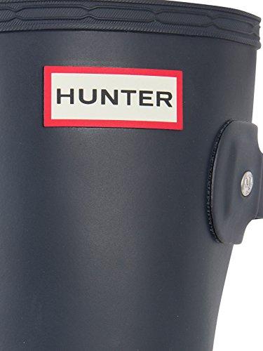 Hunter Hombre Botas de agua original laterales ajustables, Negro Azul