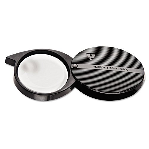 Bausch & Lomb 4X Folded Pocket Magnifier, 36mm Diameter Lens (812354) Size: 1 - Pack Style: A, Model:812354, Office Accessories & Supply Shop