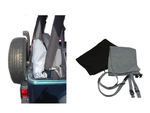 Roll and Store Roll-Up Vinyl Window Storage System for 1987-2006 Jeep Wrangler YJ/TJ and Unlimited ()