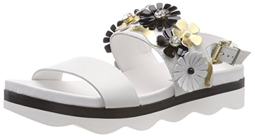 Tosca Sling Back bianco C00 Milonga Sandals White Blu Women's rCtvrq