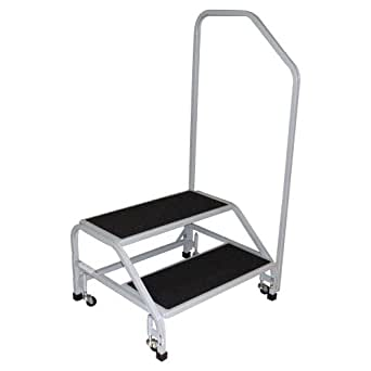 Tk Manufacturing 2 Step Bariatric Step Stool With Handrail