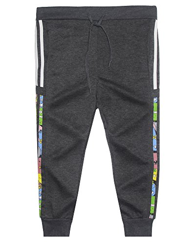 Price comparison product image Big Boy's Elastic Waist Skinny Jogger Pants Kid's Cotton Sport Trousers Grey 10