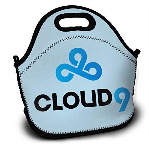 - Cloud 9 C9 Team Logo 1 Lunch Bag Tote Box Reusable Handbag For Men,Women,Kids