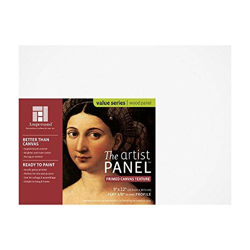Ampersand Claybord Panel - Ampersand Art Supply Canvas Texture Artist Panel 3/8