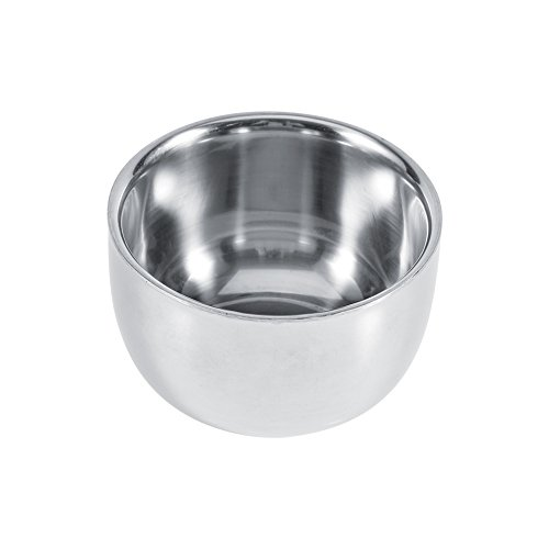 Stainless Steel Shaving Bowl,Asixx Durable Men's Stainless Steel Hairdressing Shaving Cream Soap Mug Bowl Cup Tool, Large Bowl Easier to Create Foam,1 x Stainless Steel Shaving Bowl Only