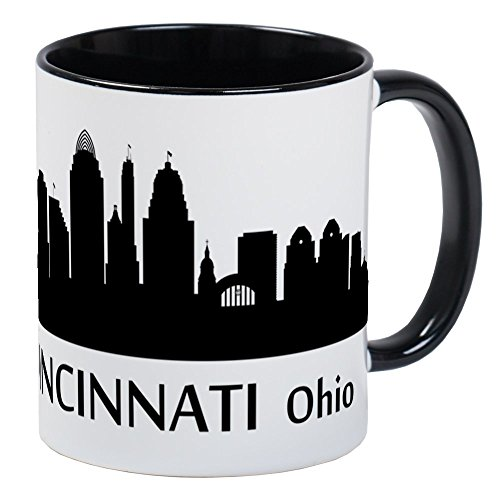 CafePress Cincinnati Cityscape Skyline Mugs Unique Coffee Mug, Coffee - Skyline Large Mug