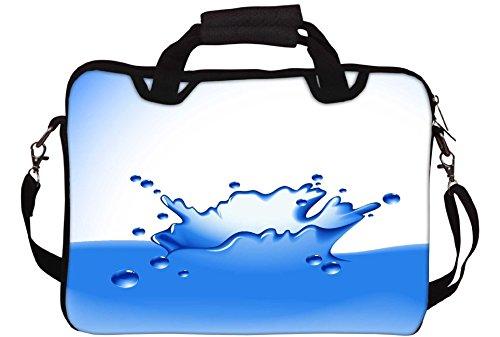 Snoogg Clear Water Splash Vector Gedruckt Notebook-Tasche mit Schultergurt 15 bis 15,6 Zoll