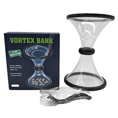 Pressure Relieving Vortex Bank Watch Money Defy Gravity Circling Around When Saving Loose Coins Funnel Shape Piggy Bank
