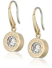 "Michael Kors ""Logo"" Crystal Drop Earrings"