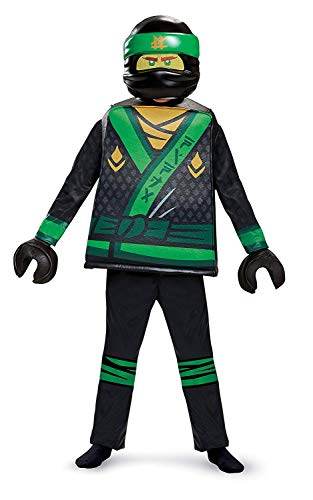 Disguise Lloyd Lego Ninjago Movie Deluxe Costume, Green, Small (4-6)