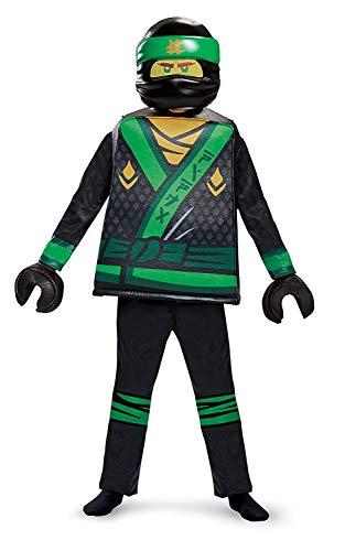 Disguise Lloyd Lego Ninjago Movie Deluxe Costume, Green, Small (4-6) ()