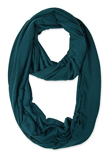 corciova Light Weight Infinity Scarf with Solid Colors Midnight Green
