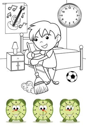 quac kduck libro para colorear Tell The Time - Wieviel Reloj es? - Coloring Booklet - Libro para colorear con reloj de colores tiempos - Bloc para niños a ...