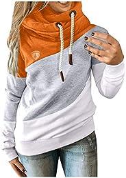 MISYAA Gradient Color Block Hoodies Jackets Womens Long Sleeve Zipper Winter Coats with Pockets Sweatshirts Ho