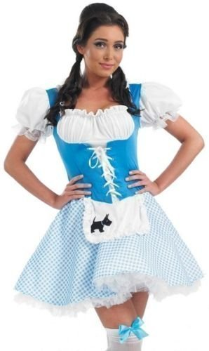 Ladies Sexy Bo Peep Goldilocks Dorothy Fairy Tale Fancy Dress Costume Outfit UK 8-26 Plus Size (UK 12-14, Dorothy)
