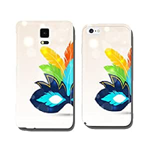 Colorful carnival or theater mask with feathers cell phone cover case iPhone5