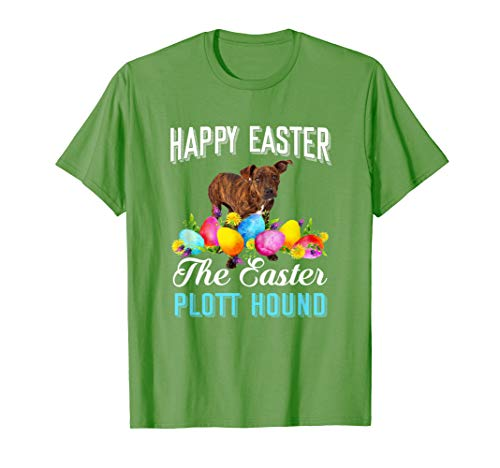 (Cute Plott Hound Easter Dog Mom Funny TShirt Gift)