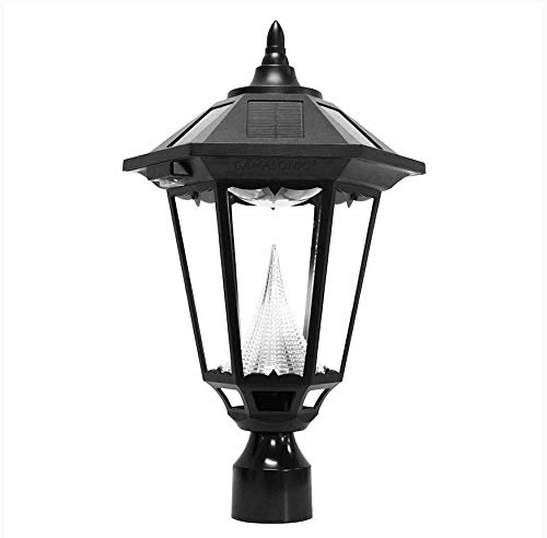 Gama Sonic GS-99F-L Windsor Lamp Outdoor Solar Light Fixture, 3