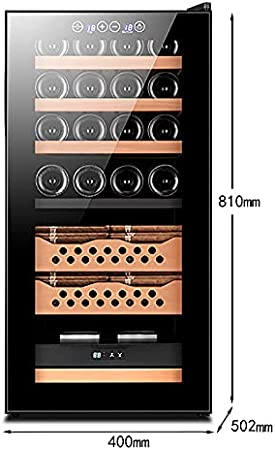 VIY Nevera para vinos Vinoteca 78L 2 Zonas de refrigeración: 10-18°C/12-18°C 16 Botellas Iluminación LED Puerta de Vidrio Patas Ajustables Negro