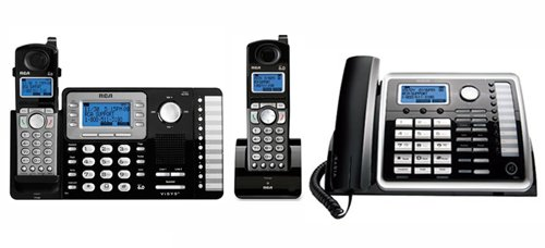 GE/RCA ViSYS 25212 Bundle + (1) 25055RE1 (2 Handsets) Cordless Phone System with One Cordless Expansion Handset and One Corded Phone ()