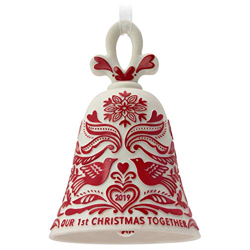 Hallmark Keepsake Ornament 2019 Year Dated Our First Christmas Bell, Porcelain