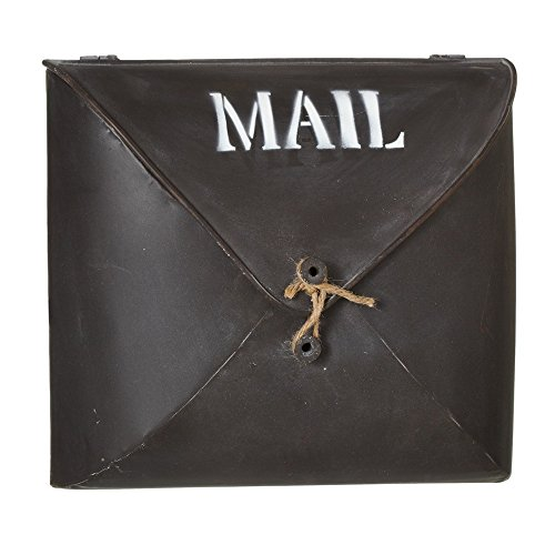 Envelope Brown Wall Pocket Metal Post Mailbox - Country Style Décor, Small (Mailbox Copper Small)