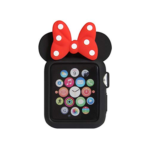 Navor Soft Silicone Protective Case Disney Character Minnie Mouse Ears Compatible with Apple Watch 42mm Series 1 2 3 [B