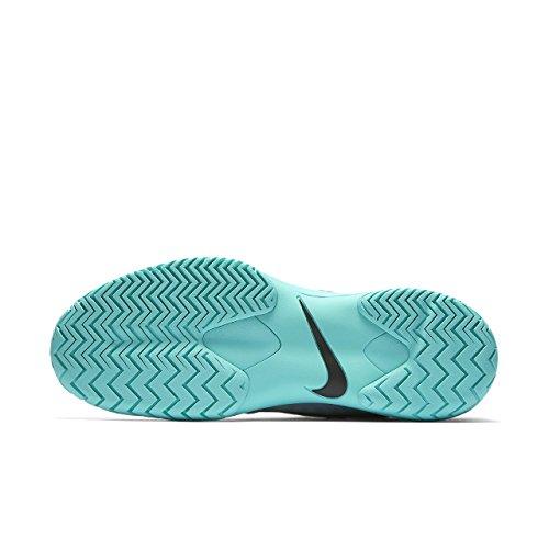 Nike Mens Air Zoom Cage 3 Hc Scarpa Da Tennis Grigio Scuro / Nero-aurora Verde