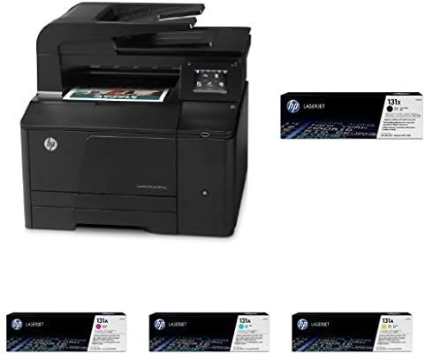 HP LaserJet 200 M 276 n Pack - Impresora multifunción laser + Cartucho de tóner original, negro (131X) + Cartucho de tóner original, amarillo (131A) + ...