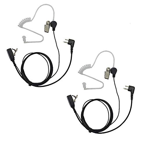 Two Way Radio earpiece PTT Mic Covert Acoustic Tube Earpiece Headset Motorola walkie Talkie earpiece(2 pcs)