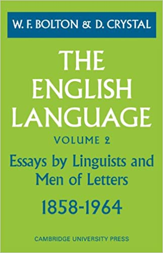 amazoncom the english language volume  essays by