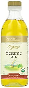 Spectrum Naturals Organic Unrefined Sesame Oil - 16 oz