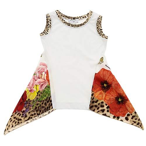 Monnalisa Kids Clothing - Monnalisa Girls 11363432019980 White Cotton Tank Top